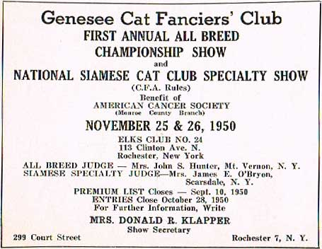 Genesee Cat Fanciers